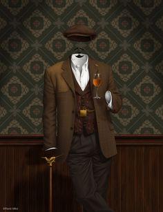 Country gentleman, Secret Sherry Society poster (digital artwork)