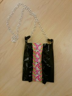 Duct tape ruffled front purse