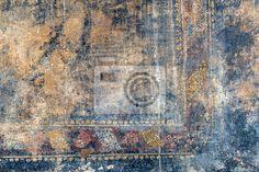 Fototapete Ragged Fresko in Pompeji, Italien
