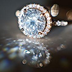 Venus Solitaire ring - Inel cu cristale zirconiu placat cu aur 18k rose