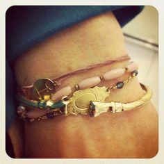 Retro brass bracelet bangle. 80's. Funky Jewelry from http://ulovejewelry.etsy.com
