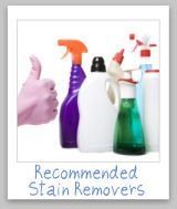 Website with lots of sugestions for removing stains; crayon, grease, wine etc...
