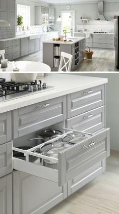 Kitchen cabinets that suit you and how you use your kitchen will save time and effort every time you cook! With IKEA SEKTION kitchens, you can create your ideal layout.
