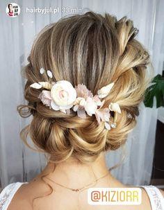 12 Best Wedding Hairstyles from Elstile & Oh Best Day Ever Hochsteckfrisur Hoch& Bridal Braids, Bridal Hair Updo, Wedding Hair And Makeup, Wedding Updo, Wedding Beauty, Bridal Makeup, Hair Makeup, Braids For Wedding Hair, 50s Makeup