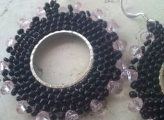 black and rose crystal