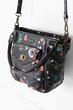 Desigual Black faux-leather bag. Discover the new arrivals in our accessories collection!