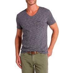 T-Shirt uomo Wrangler 1 Pkt V Medieval Blue