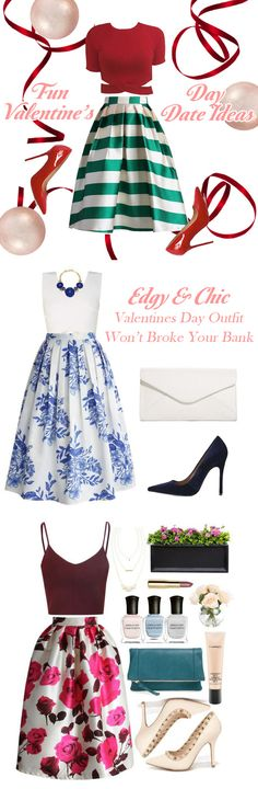 Edgy and Chic Valentines Day Outfit Ideas Won't Break Your Bank. #ValentinesDayOutfit #ValentinesDay #ValentinesDaySkirt chicwish.com