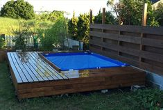 Homemade Swimming Pools, Swimming Pool Decks, Above Ground Pool, In Ground Pools, Portable Pools, Garden Fence Panels, Diy Pool, Cool Landscapes, Small Patio