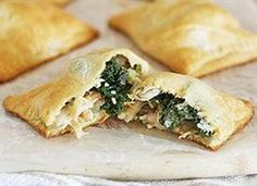 Chicken Kiev and Kale Pockets... maybe not the healthiest way to try kale but we're trying it!