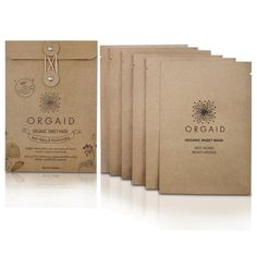 Anti-Aging Moisturizing Organic Sheet Mask (6 Pack)