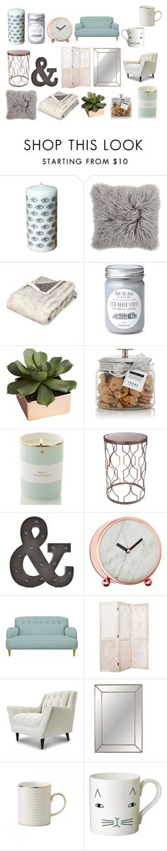 """Style Steal:Marzia Bisognin-Home Decor"" by emnicole9 ❤ liked on Polyvore featuring interior, interiors, interior design, home, home decor, interior decorating, OKA, CB2, FREDS at Barneys New York and Kate Spade"
