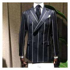 The finest bespoke tailor, with stores in Amsterdam & Utrecht. Also for all your smart casual clothing. Dress Suits For Men, Suit And Tie, Men Dress, Blazer Outfits Men, Blazer Fashion, Mens Fashion Suits, Mens Suits, Designer Suits For Men, Pinstripe Suit