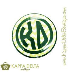 KD Boutique Sleek Chevron Button! Add a little Kappa Delta spice to your Monday