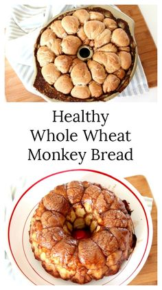 Healthy Whole Wheat Monkey Bread - This sticky, sweet, delicious bread is perfect for game day, brunch, snack time or dessert. We're huge fans of healthy treats & this recipe is one of the best! #FactsNotFads #HealthyRecipes #FootballFood #RealFood