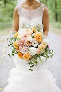 orange bouquet | Brooke Courtney Photography | Glamour & Grace