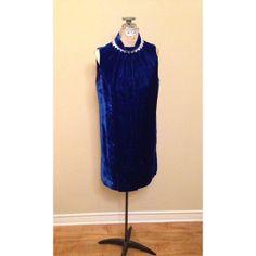 Vintage 1960s Blue Velvet Shift Dress / by HoneyCultVintage, $50.00