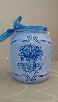 Pot blauw Holland