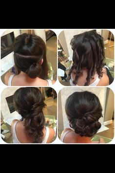 Awesome side updo tutorial for weddings medium hair styles, long hair styles, side bun Wedding Hair And Makeup, Hair Makeup, Hair Wedding, Hairdo For Wedding Guest, Easy Wedding Updo, Wedding Bridesmaids, Bridal Makeup, Wedding Dresses, Medium Hair Styles