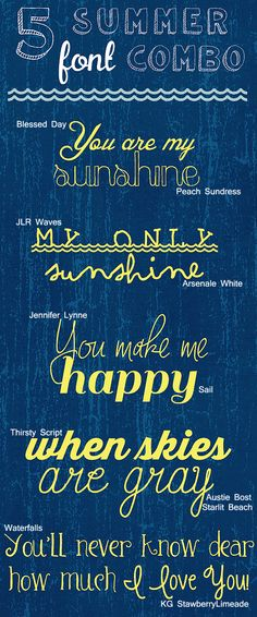 5 Free Summer Font Combos | VAL AND PAM