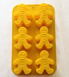 The Gingerbread Man Cake Mold Soap molds 3d Flexible Silicone Mould Candle Candy  bath bomb mold soap making polymer clay baking tools