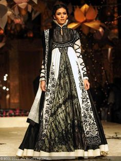 Model Shriya Kishore showcases a creation by designer Rohit Bal during the grand finale of India Bridal Fashion Week '13, held at Grand Hyatt, in Mumbai.