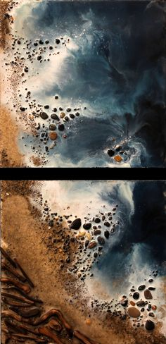 Inspiration: Mark Hamilton encaustic painting. Encaustic painting, also known as hot wax painting, involves using heated beeswax to which colored pigments are added.