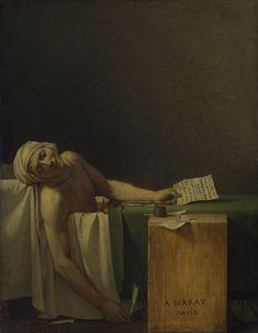 La morte di Marat o Marat assassinato 1793, olio su tela, Museo reale delle belle arti del Belgio di Bruxelles.