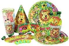 Crystallove Funny Paper Assortments Party Supplies Pack Including Birthday Hats Plates Cups Napkins Eyepatchs and Horns Favor Set of 36pcs (jungle party) - http://www.partythings.com/crystallove-funny-paper-assortments-party-supplies-pack-including-birthday-hats-plates-cups-napkins-eyepatchs-and-horns-favor-set-of-36pcs-jungle-party.html