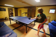 The game room at Rockcliffe Farm