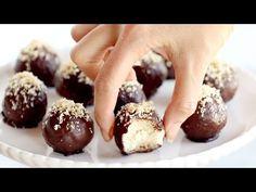 Naturally Sweet Dark Chocolate Coconut Bites - Pinch of Yum