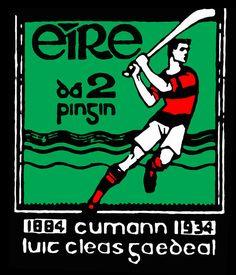 Old Irish postage stamp Old Irish, Roman Numerals, Postage Stamps, St Patrick, Athlete, Ireland, Bacon, The Past, Bunny