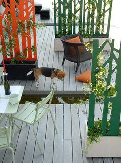 Pimp up my balcony on pinterest garden deco balcony for Garden separator