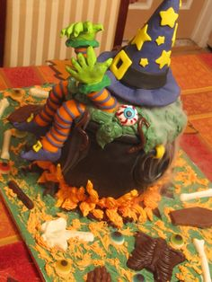 Melting Witch Brew Halloween Cake