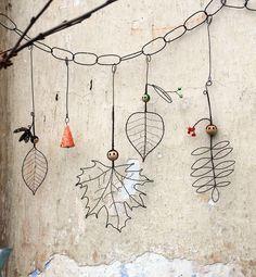 Lesní školka... drátovaný loutkový závěs