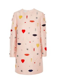 Stella McCartney Embellished Satin-Twill Dress
