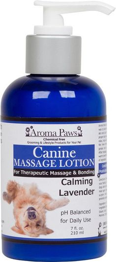 Aroma Paws Vegan Dog Spa Massage Lotion is a great way to bond with your dog while nurturing their skin & coat with soothing ingredients. Use of proper dog massage techniques can comfort & relax, help