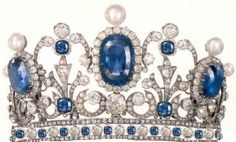 Pauline Bonaparte's tiara    Diamonds, Pearls, and Blue Sapphires