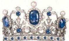 French Sapphire and Diamond Tiara
