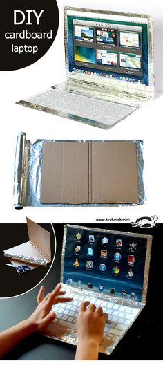 DIY cardboard laptop