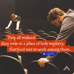 """""""They all realized they were in a place of holy mystery, that God was at work among them. They were quietly worshipful—and then noisily grateful, calling out among themselves, 'God is back, looking to the needs of his people!'""""Luke 7:16-17 www.elevationchurch.org"""