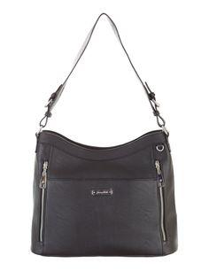 Grace Adele Handbag ~ Giselle Black $80 ~ Zippered hobo with detachable shoulder strap.  Great bag for concealed weapons.