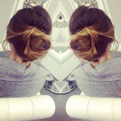 Some prefer their bun messy   #bloout #blowdrybar #blowdry #blowout #longhair #hairgram #hairfashion #hairpost #phillyhair #phillyhairstylist #phillysalon #fb #twitter #messybun #updo