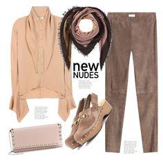 """More Nude Shades..."" by hattie4palmerstone ❤ liked on Polyvore featuring Balenciaga, Valentino, Brunello Cucinelli, Gucci and Faliero Sarti"