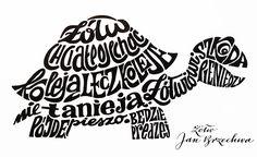 Calligrams - Zwierszyki on Behance Creative Lettering, Typography Quotes, Zentangle Patterns, Buy Prints, Online Portfolio, Word Art, Scorpio, Behance, Calligraphy