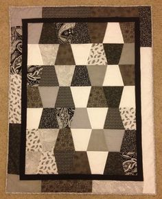 Black and White Baby Quilt by EugeneGerdes on Etsy, $140.00