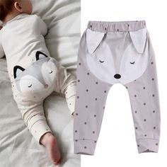 Cute Animal Baby Boys Girls Pants Kids Clothing Cotton Baby Long Trousers Baby Girl Harem Pants Baby Boys Girls Clothing * Pub Date: Feb 12 2017 Baby Outfits, Kids Outfits, Summer Outfits, Baby Set, Fox Baby, Baby Boy Newborn, Baby Kids, Girl Bottoms, Kids Pants