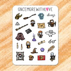 Munchkins Magical Wizards and Witches Planner Stickers Harry Potter Stickers, Personal Planners, Erin Condren, Life Planner, Travelers Notebook, Wizards, Filofax, Cute Stickers, All Design