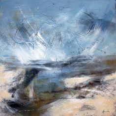 Summer estuary. Acrylic on canvas. Mari French 2014. www.marifrench.com #acrylic #abstract #coast #beach #sea #abstract landscape