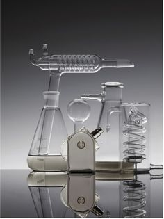 Metz & Racine.  Beauty.  Still Life.  Glassware.  Science.  Hermes.  Liquids.